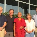 Mingyur Rinpoche und die vier Tergar Instruktoren. Foto: Tergar International