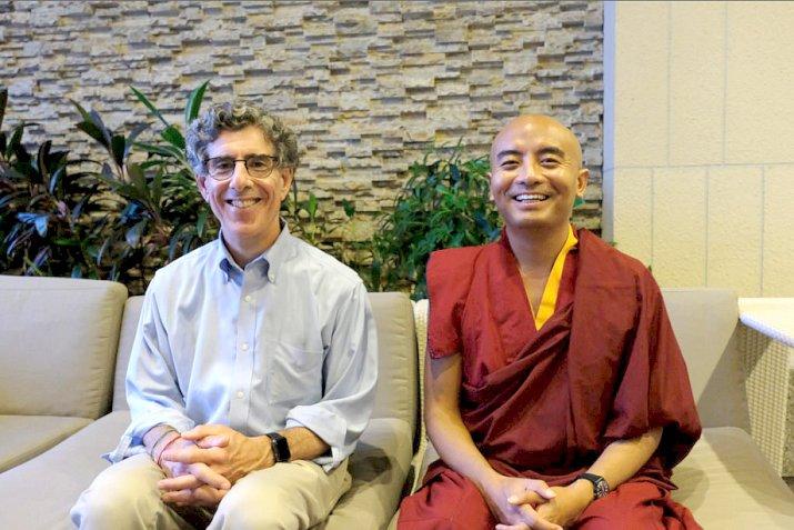 Richard Davidson und Yongey Mingyur Rinpoche
